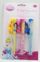 DISNEY 系列3 BALL POINT PENS WITH SAFETY CORD 公主(原價$25 特價:$7.9)